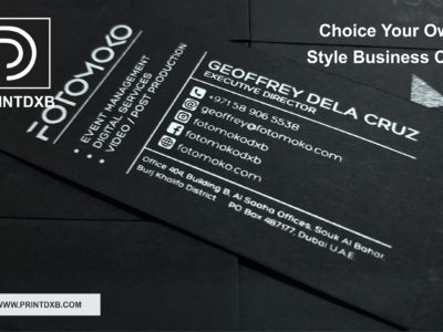 black business card printing printdxb.com picture