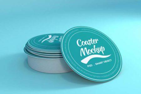 round cut sticker