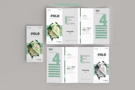 A4 in three folding flyer dubai printing