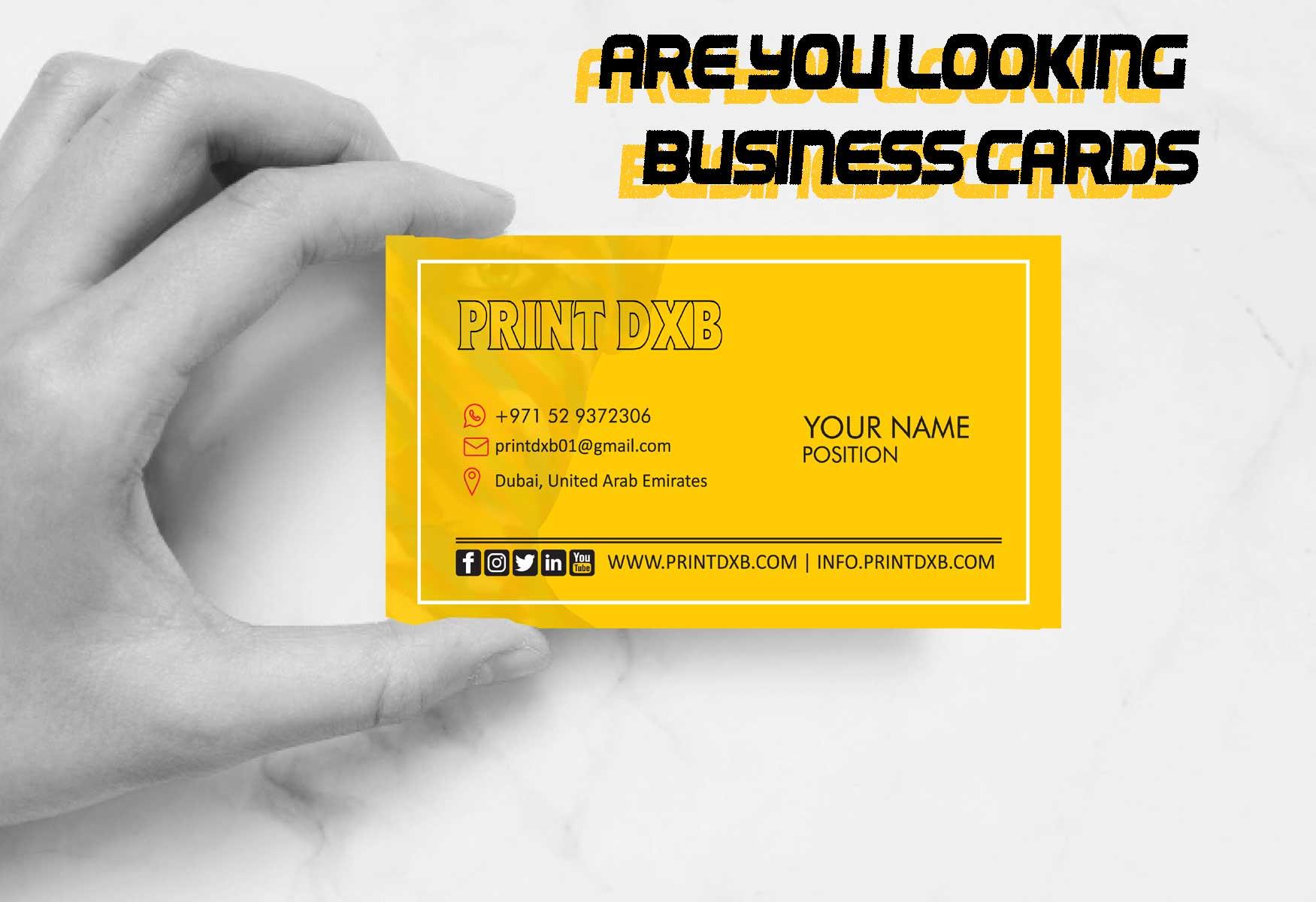 business cards printing dubai